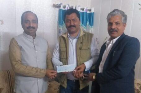 श्री राम मंदिर निर्माण के लिए समाजसेवी व युवा व्यवसायी जगदीश तोमर ने दी 51 हजार रुपये की राशि