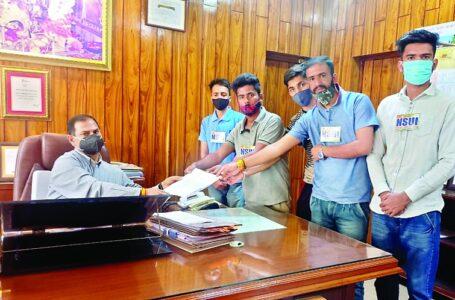 एनएसयूआई ने उपायुक्त के माध्यम से मुख्यमंत्री को भेजा ज्ञापन, कफोटा-जामना स्कूल में खाली पदों को जल्द भरे सरकार
